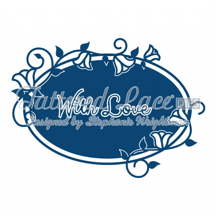 Tattered Lace Die With Love Starlight Plaque - D614
